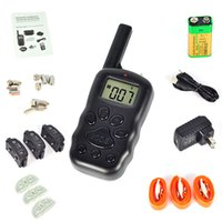 agility set - FULL SET NeW Arrival LCD REMOTE CONTROL LV Shock Vibra Remote Electric Dog Training Collar