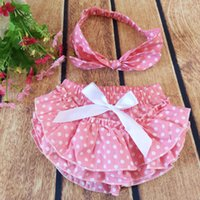 Summer baby minnie cake - NEW ARRIVAL baby girl kids toddler Mickey Minnie polka dots cake bloomers shorts pants lace diaper covers cake bowknot headband Headwrap