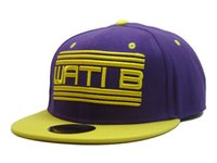 Hoteles de WATIB Snapback gorras de color Púrpura/Amarillo de los hombres de las mujeres de los deportes clásicos sombreros de moda de calidad superior en el hip-hop gorra de béisbol de Envío Gratis