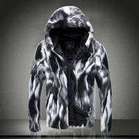 men fur coat - HOT sale brand new Stylish Mens Casual Winter Warm Faux Fur Hooded Pieced Hip Short Coat Outerwear