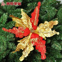 animal flower arrangements - Christmas tree decoration arrangement cm PND tail on Ye Jingong high grade gold flower g ornament crafts decor natal party supplies