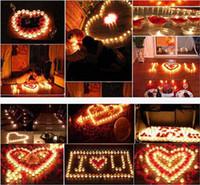 Wholesale DDA3575 Decorative Candles Romantic Heart Candle Lovely Heart Candle Romantic Wedding Birthday Party Decoration