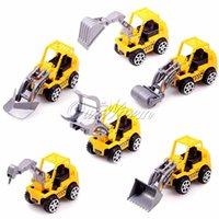 al por mayor maquetas de construcción-Portable Amarillo ABS plástico camión modelos mini construcción niños niños jugar regalo de juguete vehículos escala 1:64 para niños