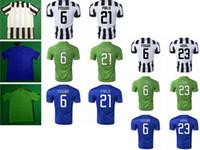Wholesale Soccer Jerseys Juventus FC Football Uniforms Kit Clothing Discount Cheap Wears Thailand Top Pogba Vidal Pirlo Tevez Home Away rd