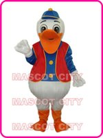 adult hippie costumes - Best Price Adult Hippie Duck Mascot Costume Halloween Party Carnival Outfit Fancy Dress Suit EMS FREE SHIP SW1285