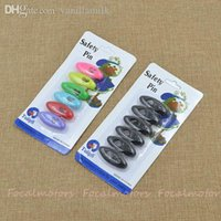 Wholesale summer style cartoon safety pin muslim hijab pins colorful or black brooches