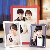 acrylic block photo frame - 5 inch inch Free Standing Desktop High Quality Acrylic Photo Block Frames With Magnetic PF005