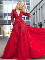 Wholesale A line Beading Tulle Prom Dresses Evening Dresses