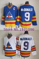 Wholesale 2016 New Colorado Rockies Lanny McDonald Jersey blue white Vintage Team Throwback Hockey Jersey