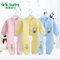 Wholesale 0M M Cotton Newborn Baby Girl Clothing Clothes Rompers Creeper Baby Jumpsuits Baby Romper Branded Autumn Winter Ropa Bebe
