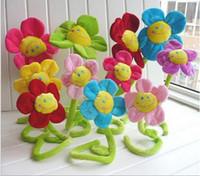 Wholesale 2016 hot sale Cartoon curtain flower sunflower plush decoration flower Decorative supplies about cm colors