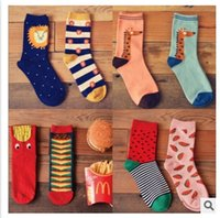 Wholesale 10pairs Spring Brand Caramella Cartoon Unisex Women s Soft Cotton Socks Female Girl s Creative Casual Long Autumn Socks