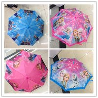 Wholesale kids umbrellas Frozen Fever Umbrella Lace Cartoon Children Kids Laciness Umbrellas Sunshade pencil umbrella Princess Elsa Anna