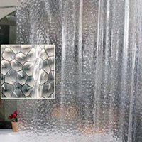 Wholesale high quality Bath curtain Shower curtain waterproof mould proof thicken D effect bath shower D Water Cube mold H11881