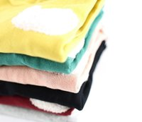Girl Spring / Autumn Standard 2014 Autumn Winter Long Sleeve Girls Tshirts Cute Cartoon Pattern Girls Tees Tops Fleeces Warm Woolen Girl's Outwear Clothing Clothes J2078