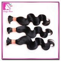 peruvian human hair bulk for braiding - Aliexpress discount Indian body wave hair Ali Moda virgin indian bulk hair for braiding human no weft inch
