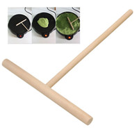 Wholesale Traditional Practical Crepe Maker Pancake Batter Wooden Spreader Stick Home Kitchen Tool Kit DIY Use