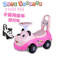 Wholesale Chi knock baby stroller scooter swing car children twist car Walker hand can take the toy car
