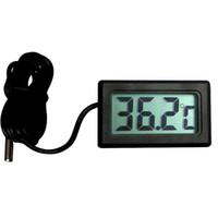 Wholesale New Temperature Instruments Digital LCD Car Fridge Incubator Fish Tank Meter Gauge Thermometer T0112 W0