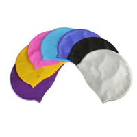 Wholesale Silica Gel Swimming Cap Adult Waterproof Silicone Bathing Cap Customized Logo