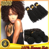 100g Brazilian Hair Natural Color Brazilian Hair Bundles Remy Human Hair Extensions Kinky Curly Hair Weaves Unprocessed Virgin Hair Wefts 3Pcs Indian Malaysian Peruvian Hair