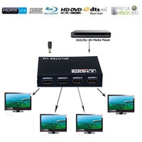 Wholesale Full HD X4 Port HDMI Splitter High Speed in out Box Hub Amplifier Repeater V HDMI Switch Extender For Computers DVD