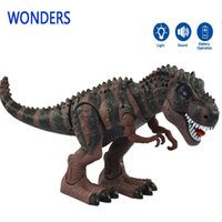 battery operated toys for dogs - Model toy big tyrannosaurs rex walking electric animal battery operated flash eye Assemble for child kids