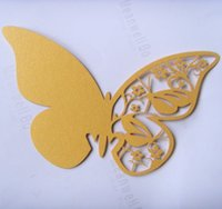 Wholesale Gold Butterfly Paper Place Card Escort Card Cup Card Wine Glass Card name card for Wedding Par Wedding Favors