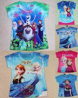 Cheap Frozen baby shirts clothes Best Frozen girls clothes costume