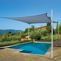 Wholesale Rectangle Outdoor Shade Sail UV Protection Pool Garden Canopy Cover New Size M M Beige Sun Shades for Patio