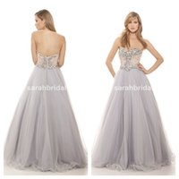 amazing maxi dress - 2016 Amazing Silver Tulle Prom Dresses Full Length Maxi Beading Bodice Plus Size Pageant Princess Ball Beauty Queen Evening Gown Formal Wear