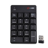 Wholesale Hot selling New Ghz Wireless USB keypad keyboard for Notebook Windows Mac OS System High Qaulity