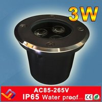 Wholesale Factory direct sale W Hole Size D60MM H70MM LED underground light IP65 Buried recessed floor outdoor lamp AC85 V A5