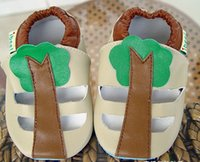 Wholesale Sheep Leather Baby Boys Girls Band Sandals New Children Boys Girls Home Shoes Kids Summer Shoes Child Boys Girls Toddler Shoes L0580