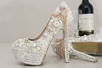 beautiful shoes - New Arrival Wedding Shoes With Shinning Luxury Crystals Rhinestones White Style Beautiful Bridal In Stock For Brides