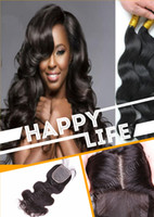 Cheap Brazilian Hair Brazilian human hair Best 14 #1B hair weft and closure