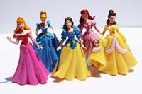 Roles beauty free snow - 5pcs set cm Princess Snow White Sleeping Beauty Ariel Bella Cinderella PVC Figure Toys For Children