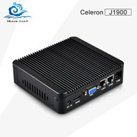 adapt dual - Low price Mini PC Celeron J1900 Ghz Quad Core Dual lan HDMI VGA With WIFI V Power Adapt