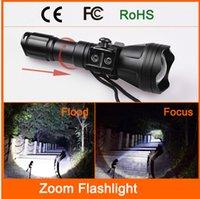 Wholesale Odepro B158 zoom flashlight XM L2 T6 led torch hunting light lanterna high lumens aluminum tactical flashlight self defense