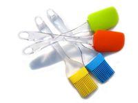 Wholesale 2pcs set Oil Brush Cake Spatula Cream Spatulas Silicone Brushes BBQ Utensil Baking Tools YS3A9D02