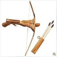 Wholesale Small Crossbow Kids Toy Gifts For Shooting Arrow And Archery Bow Quive Wood Arrow