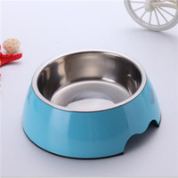 Bowls, Cups & Pails melamine dog bowl - Cheap Pet Food Single High Quality Solid Color Melamine Plastic Stainless Steel Dog Bowl Cute Dog Bowls Hot Sale BL001