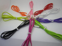 Wholesale 50pcs Lowest Price mm to mm Colorful flat type Car Aux audio Cable Extended Audio Auxiliary Cable