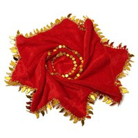 Wholesale New Velvet Red Flower Handkerchief Dance Duet Chinese Tradition