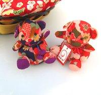 White free japanese girl - mix Japanese Chirimen Lucky Cat Dolls car decoration Gifts plush toy