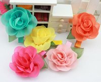 baby products - New products girls Barrettes korean style big flower children Headbands fashion chiffon baby princess Hair Accessories ab1274