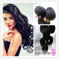 hair dye color - 4pcs High Quality Malyasian Virgin Hair Body Wave Natural Color Remy Human hair Can Be Dyed Fast DHL g