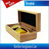 Wholesale Handmade Glasses Case Sunglasses Protector Case Storage Holder Box Brand Designer Natural Bamboo Wood color