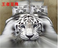 queen size bedding set - Queen size wild animals d bedding sets Pure cotton reactive print a set lions wolves tigers