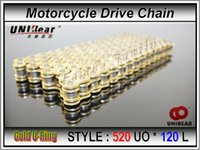 Wholesale 520 Motorcycle Drive Chain parts UNIBear Pitch Heavy Duty Gold O Ring Chain Links for Honda Yamaha Suzuki Kawasaki